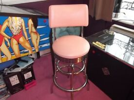 American swivel bar stool.