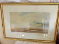 LARGE FRAMED PAINTING OF THE NESS -SLIGHTLY FADED