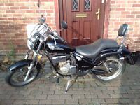 2003 Gilera Coguar 125 manual motorcycle, new 1 year MOT, chopper style, learner legal, bargain.