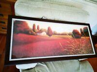 Large framed landscape print 110cm x 50cm