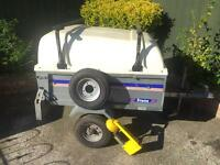 Franc tipping trailer + hardtop/roofbars/spare wheel/clamp