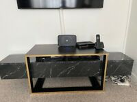 Black and gold brand new tv stand