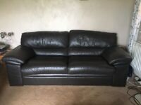 Leather 3 Seater Sofa, 2 Chairs And Footstool (4 piece Suite)