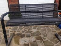Large Metal Garden Bench