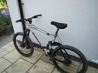 Mint condition Kona Coiler full suspension downhill mountain bike. Large frame, 26 inch wheels