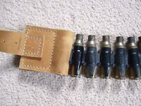 Ammo belt by fashion designer Joey D - leather featuring bullet shells - UNIQUE