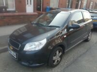 Chevrolet Aveo 1.2 Petrol Low Miles Long Mot Cheap To Insure/Maintain Bargin Price