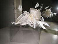 Head-dress/fascinator worn for wedding