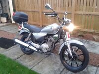 Yamaha YBR 125 Custom For Sale. 2009 Excellent condition. £1400