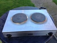 Catering double hob