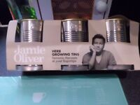 Jamie Oliver herb tin grow your own set new