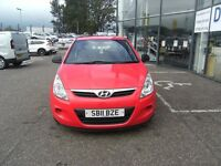 2011 11 HYUNDAI I20 1.2 CLASSIC 3D 77 BHP **** GUARANTEED FINANCE **** PART EX WELCOME ****