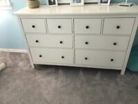 White HEMNES drawers