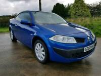 Late 2006 RENAULT MEGANE CONVERTIBLE. POSSIBLE PART EXCHANGE CREDIT CARDS ACCEPTED