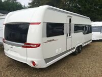 Hobby Caravan 650 Uff Premium (2015) Island Bed, separate shower/toilet. like fendt and tabbert