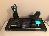 Saitek X52 Pro flight control and throttle