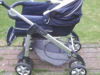 silvercross pram on baby carrier car seat vgc