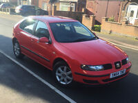 2005*SEAT LEON S 1.6 PETROL*2 OWNERS FROM NEW*LOW MILES*FULL SERVICE*CAMBELT CHANGED