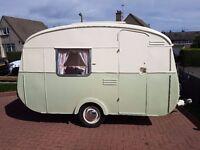 Vintage 1964 Cheltenham Fawn caravan