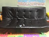 Sofa Bed (Faux Leather) ***FREE****