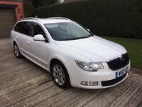 2013 SKODA SUPERB ELEGANCE G-LINE II TDI FULL HEATED LEATHER/NAV/CRUISE/PARK SENSORS