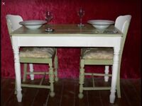 Shabby Chic Table for Two, plus chairs
