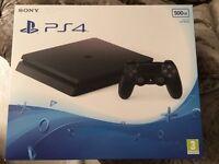 Brand new PS4 slim 500gb sealed black