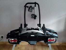 Thule 925 towbar twin bike rack - as new used once £235