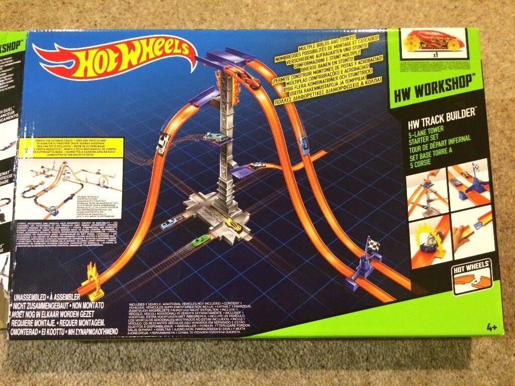 Hot Wheels Track Builder – 5 Lane Tower Starter Set.