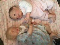 2 x lovely reborn baby dolls