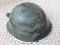 """VINTAGE BRITISH ARMY MK3 """"TURTLE"""" HELMET 1952 KOREAN WAR ERA"""