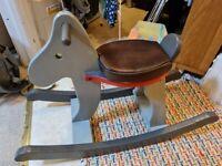 Child wooden toddler rocking horse