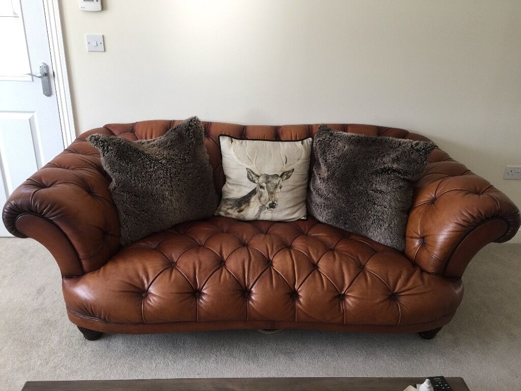 Chesterfield Leather Oskar Sofa Amp Wing Arm Chair Dfs In