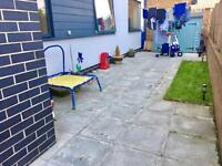2 bed GFF with patio garden for your 2 or 3 bed house.