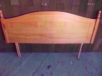 Light wood Double Headboard Delivery Available