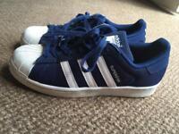 Adidas Superstars trainers UK size 5