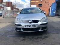 VW golf 1.9 diesel automatic low mileage 39,000 on the clock good condition damage repair