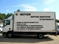 CHEAPEST REMOVAL MAN AND VAN REMOVAL SERVICE 24/7 HOUSEMOVE-OFFICEMOVE-SINGLE ITEM-FULLY INSURED
