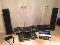 Decks cd dj denon dns3700 full set up with Numark djpro and tractor scratch duo