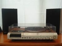 HITACHI STEREO MUSIC CENTRE RADIO-CASSETTE PLAYER-RECORD DECK IN ORIGINAL BOXES