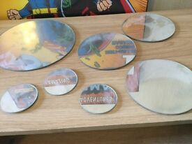 SET OF 7 MIRRORS ASST SIZES