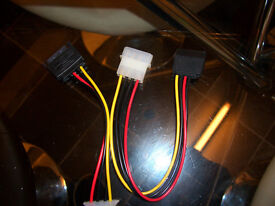 NEW SATA TO 4 PIN IDE CABLES