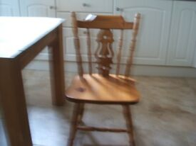 Pine chairs set of 4 used but still in nice condition