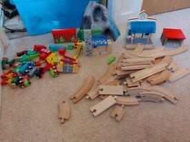 Children's Wooden Train Set