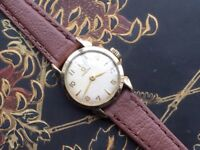 Rare vintage gold Omega ladies watch with teardrop lugs