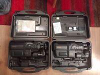 2x non-working Panasonic M10 Full VHS Cameras 1996