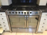 Belling Gas Range Cooker, double oven, 5 ring hob, excellent working order