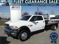 2014 Ram 5500 SLT Crew 4x4-Only 28,056KM-12ft Deck-6.4L Gas