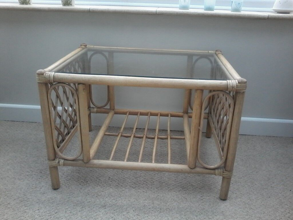 Conservatory side table cane