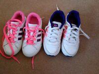 Girls Adidas trainers 2x size 10 ml5